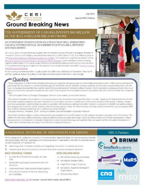CEMI Newsletter july 2021 page 1